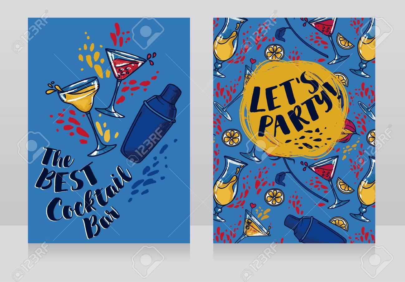 Banner Per Cocktail Bar, Può Essere Utilizzato Come Invito A Una ...