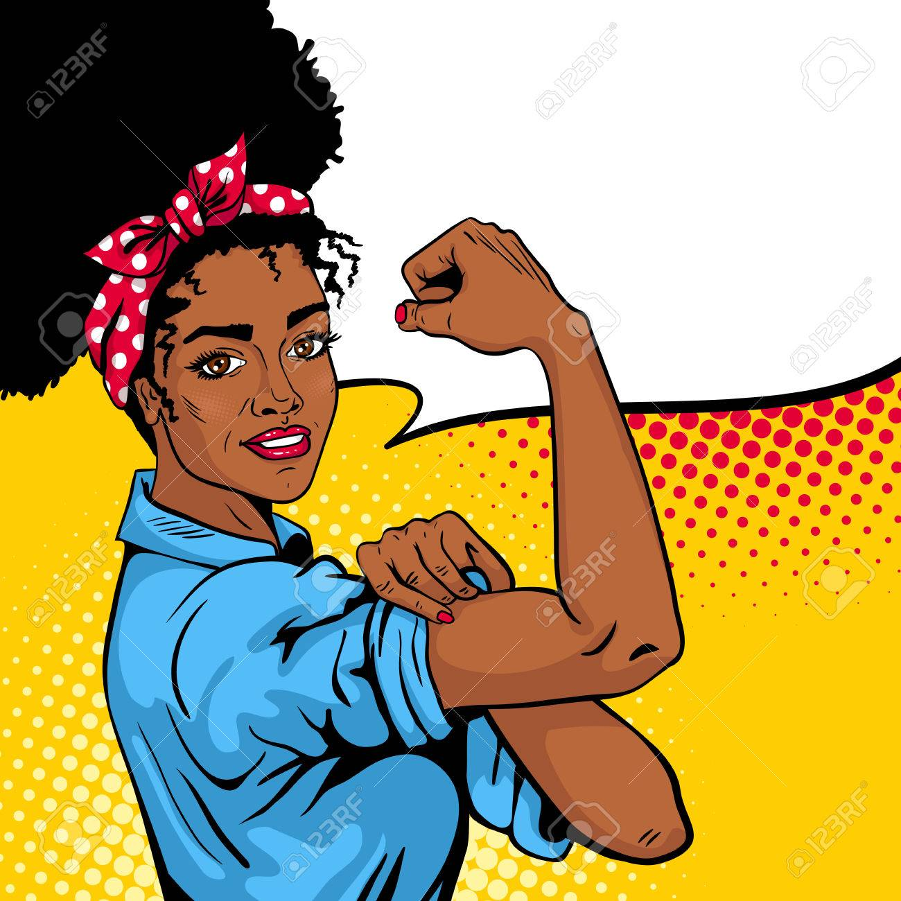 We can do it poster pop art sexy strong african girl with speech pop art sexy strong african girl with speech bubble biocorpaavc