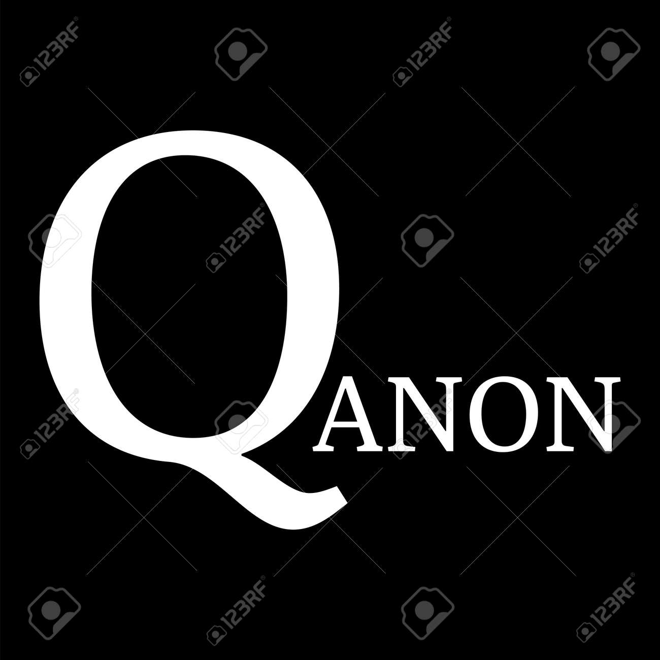 QAnon conspiracy theory. President and his supporters. Vector Illustration EPS - 155701966