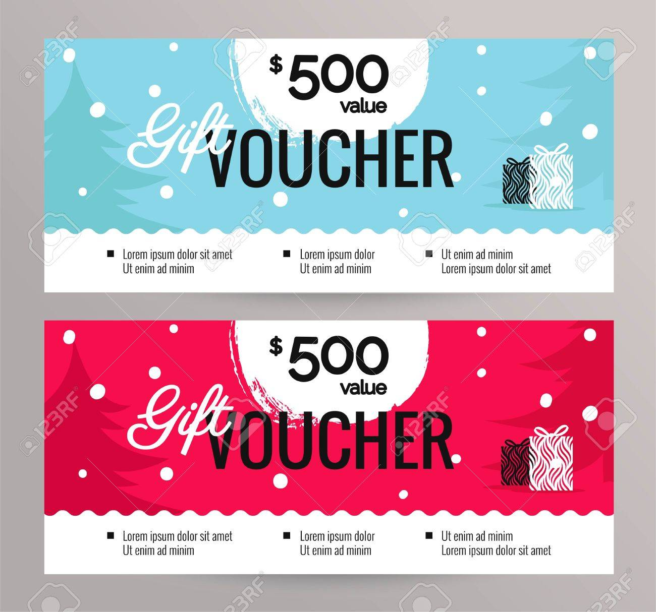 christmas gift voucher coupon discount gift certificate template for merry christmas shopping concept - Shopping Certificate Template