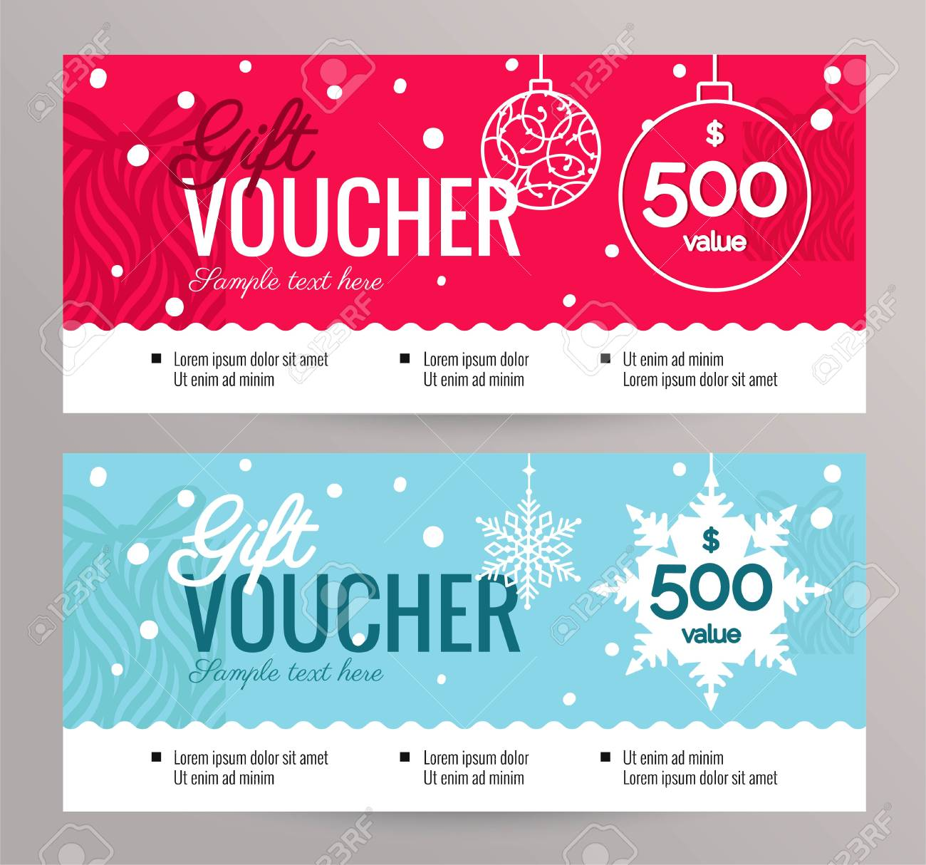 Christmas Gift Certificate Template Free.Christmas Gift Voucher Coupon Discount Gift Certificate Template