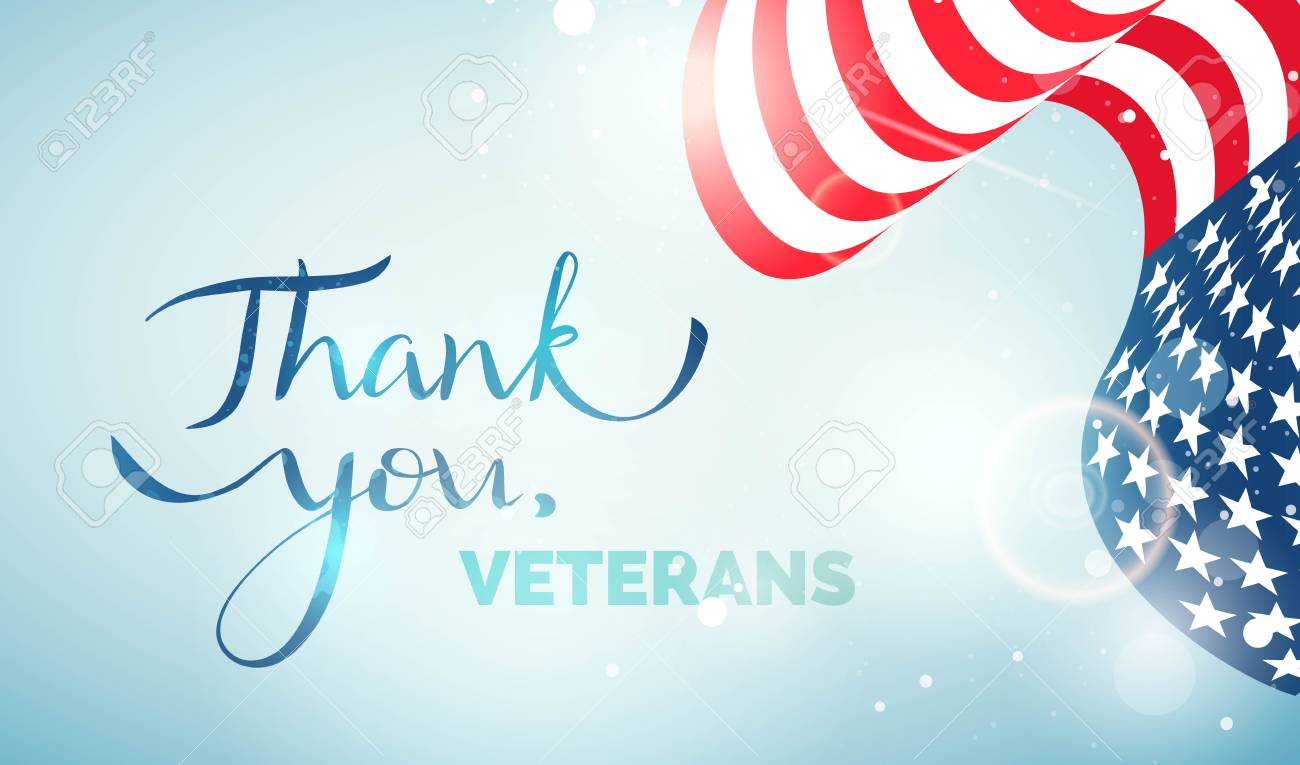 Fashion style Veterans you Thank banner pictures for lady