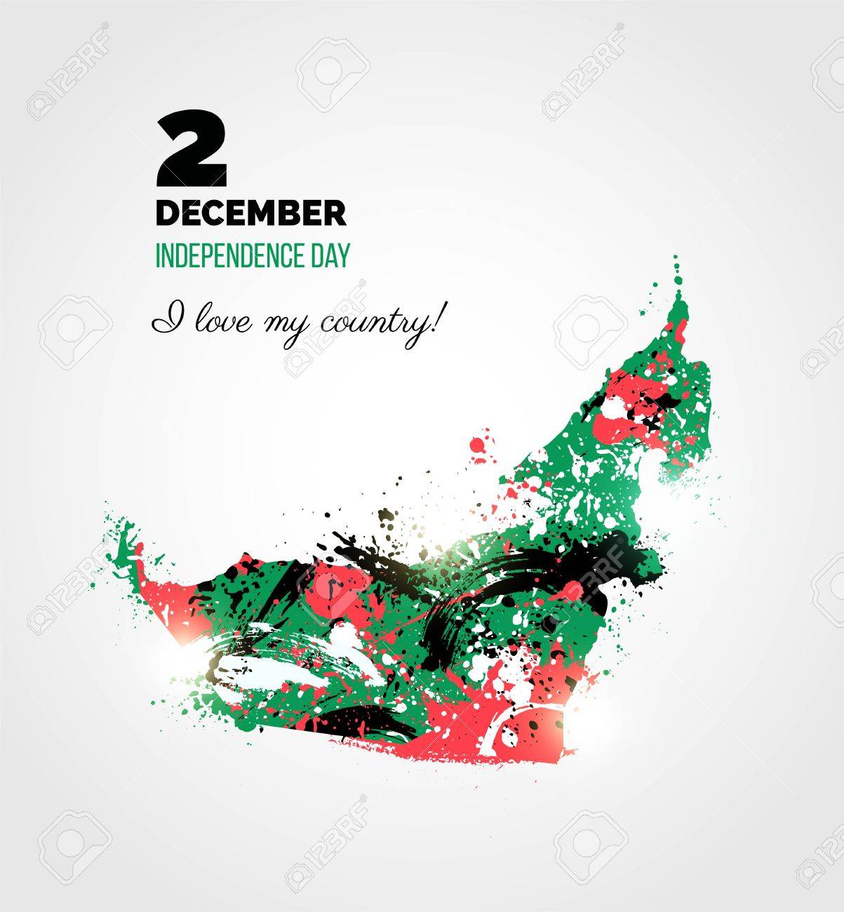 2 December Uae Independence Day Greeting Card Holiday Background
