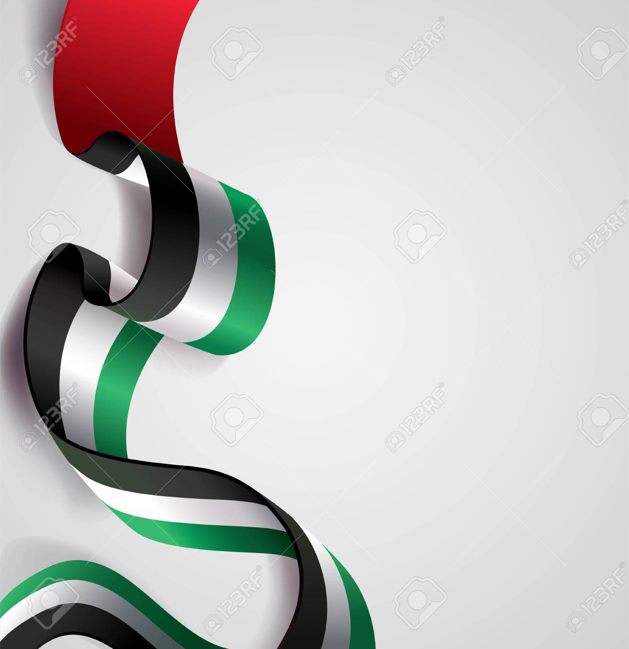 Uae Independence Day Greeting Card Concept Design Royalty Free