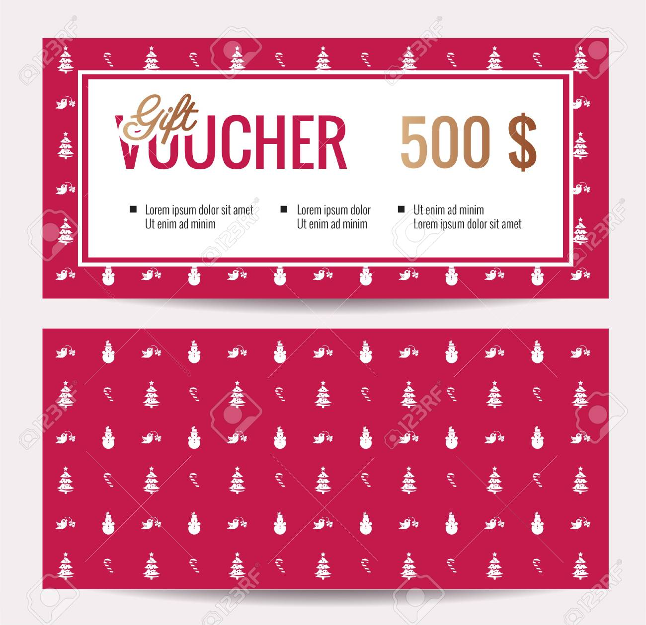 christmas gift voucher coupon discount gift certificate template