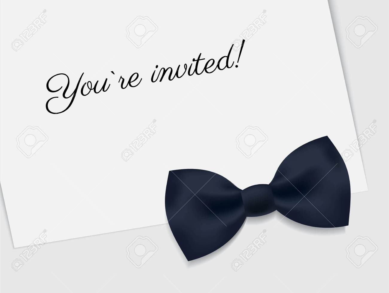 vip premium horizontal invitation card black tie event invitation
