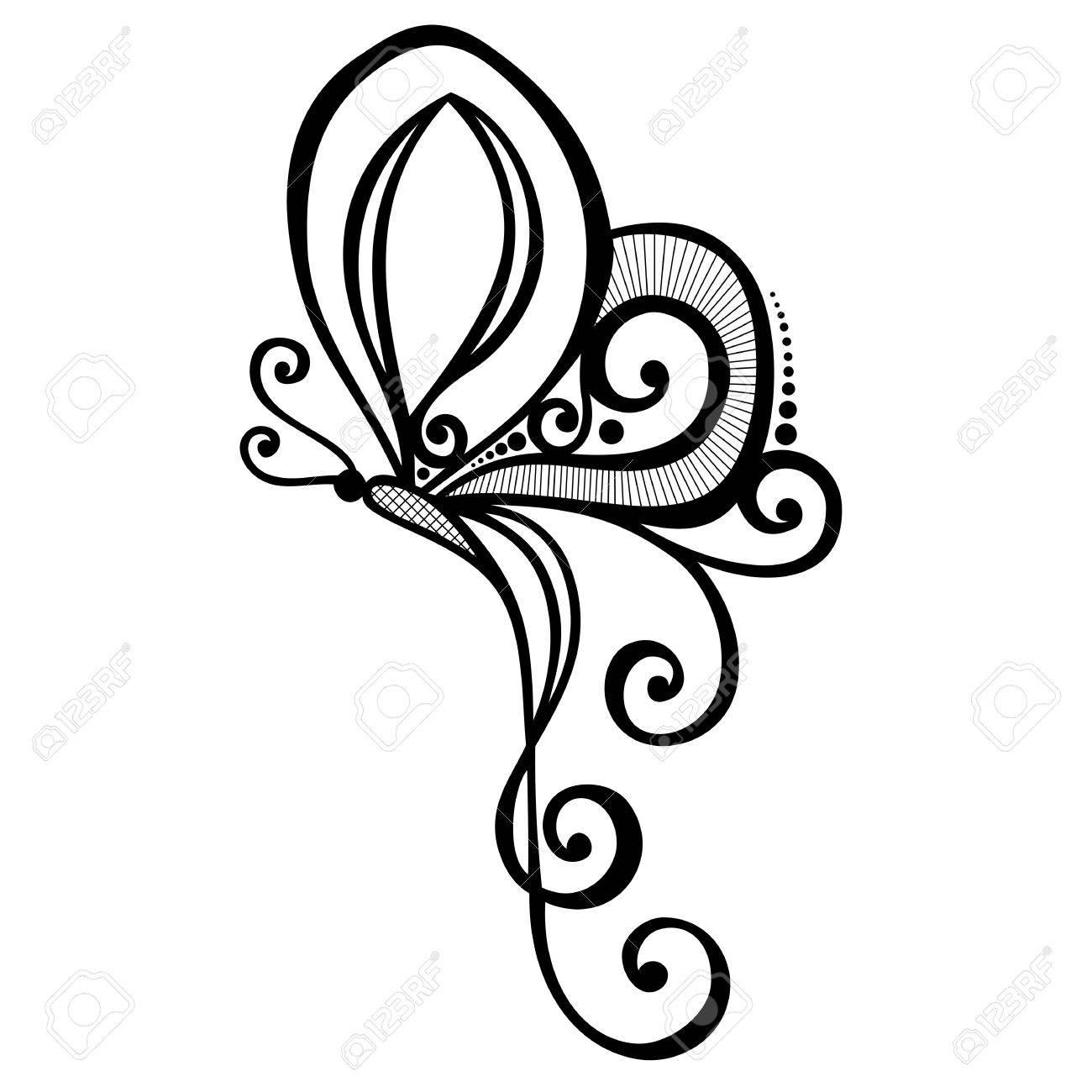 Vector Hermoso De La Mariposa Diseño Exótico Insecto Con Dibujos