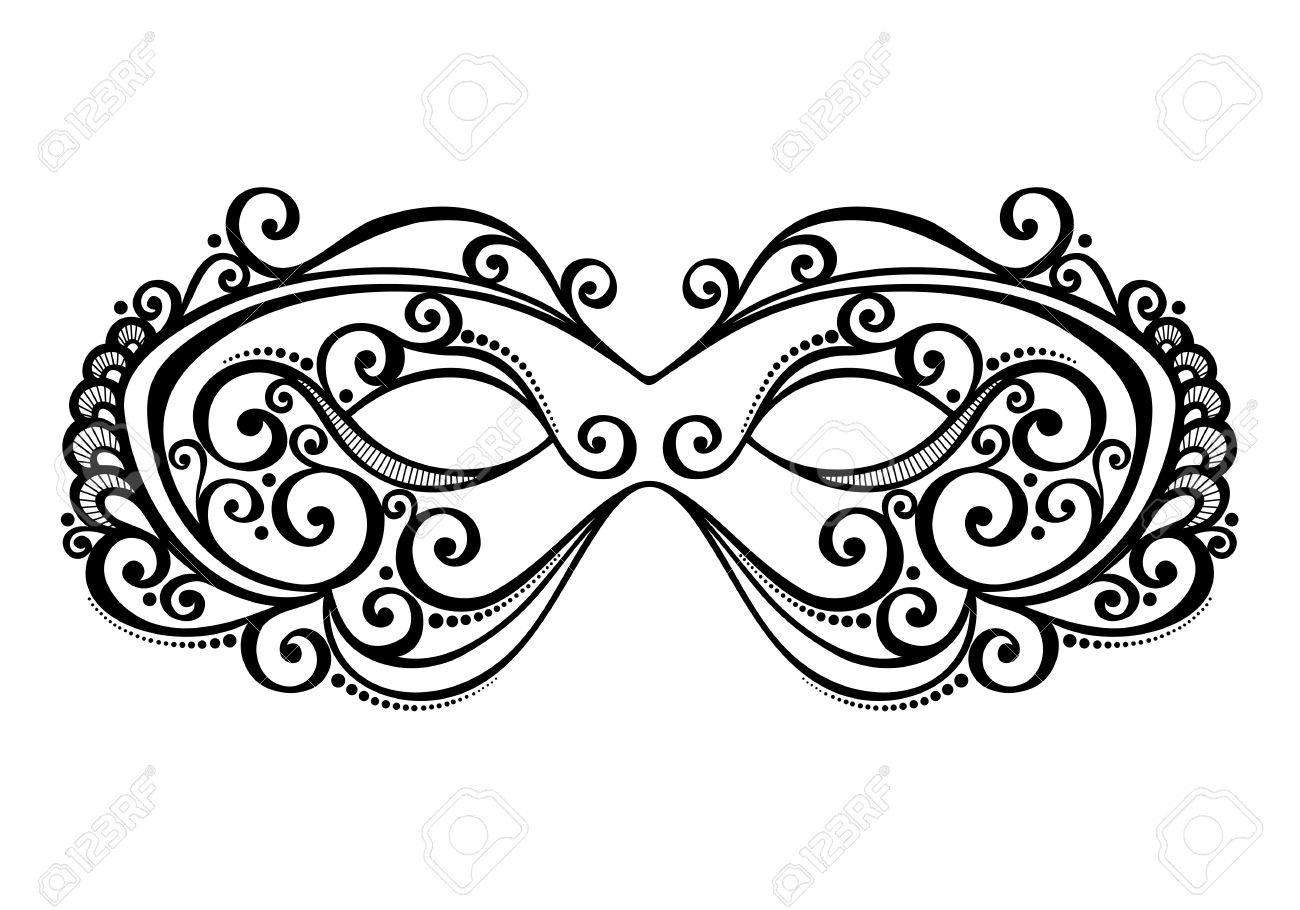 Beautiful Masquerade Mask Vector , Patterned Design Royalty Free ...