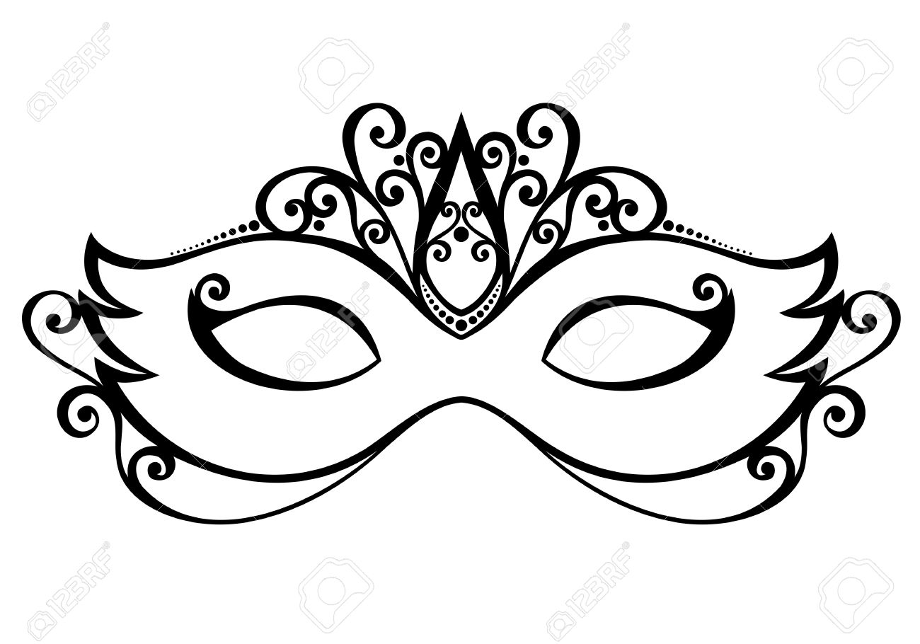 beautiful masquerade mask vector patterned design royalty free rh 123rf com masquerade mask clipart png gold masquerade mask clipart