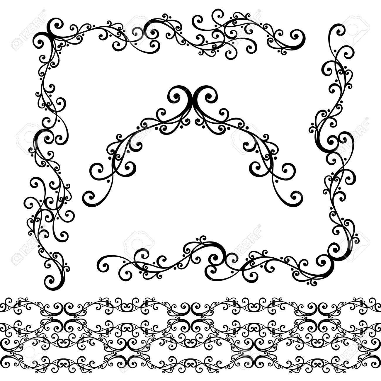 Decorative Abstract Frame, Ornament Vector Decorative Corner Royalty ...