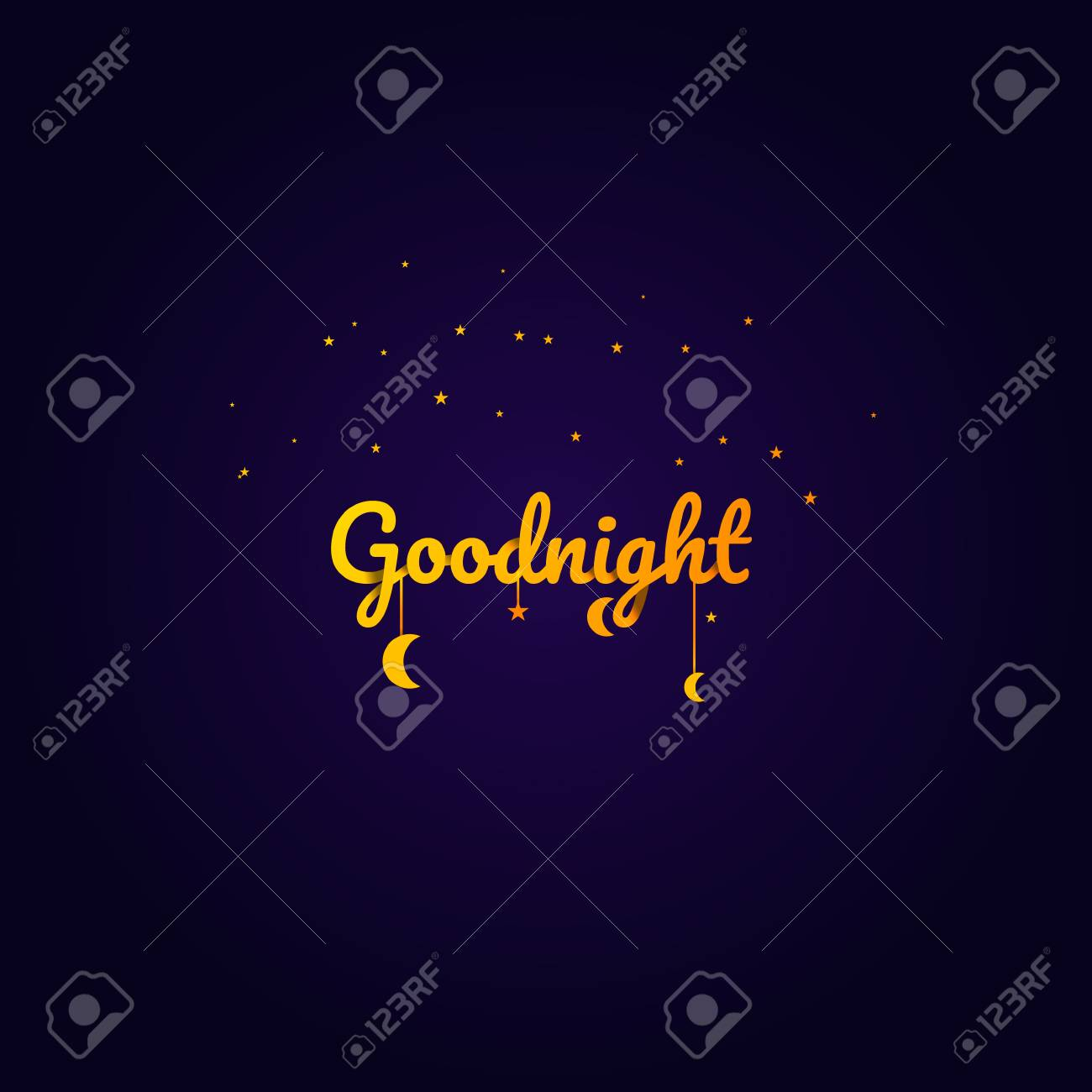 Goodnight And Sweet Dream Night And Origami Concept Vector