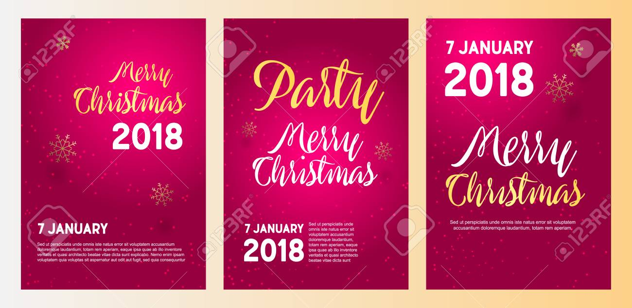 merry christmas party invitation and happy new year party invitation card christmas design for your