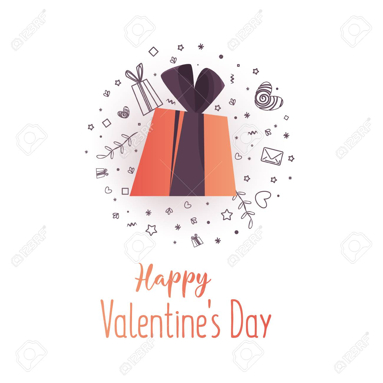 Beautiful Flyer With Happy Valentine\'s Day Sale Text. Banner ...