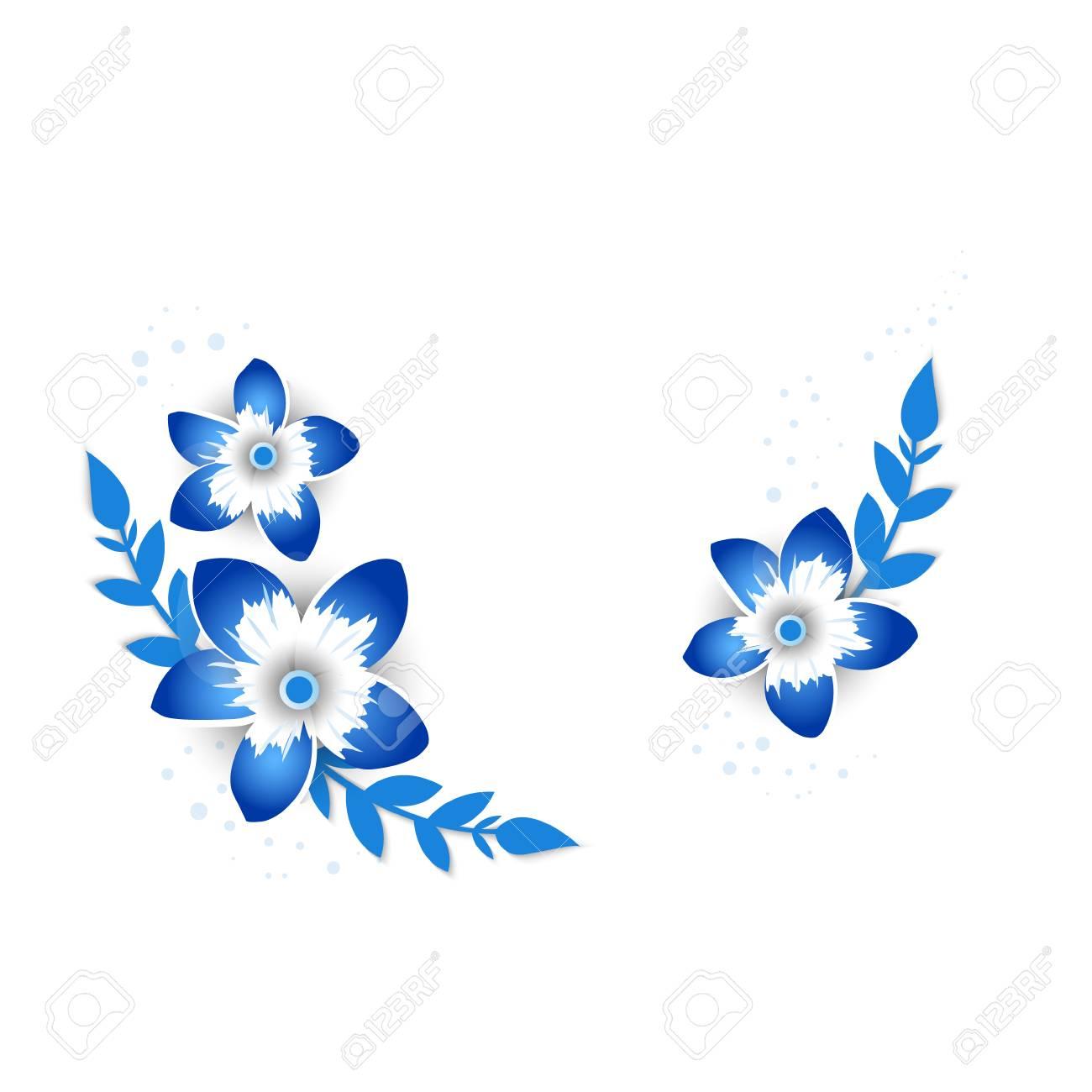 Paper Art Carve Of Floral Vector Invite Card Creative Delicate