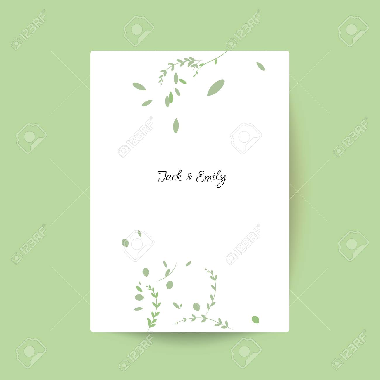 Modern Wedding Collection, Spring Ornament Concept. Wedding Invite ...