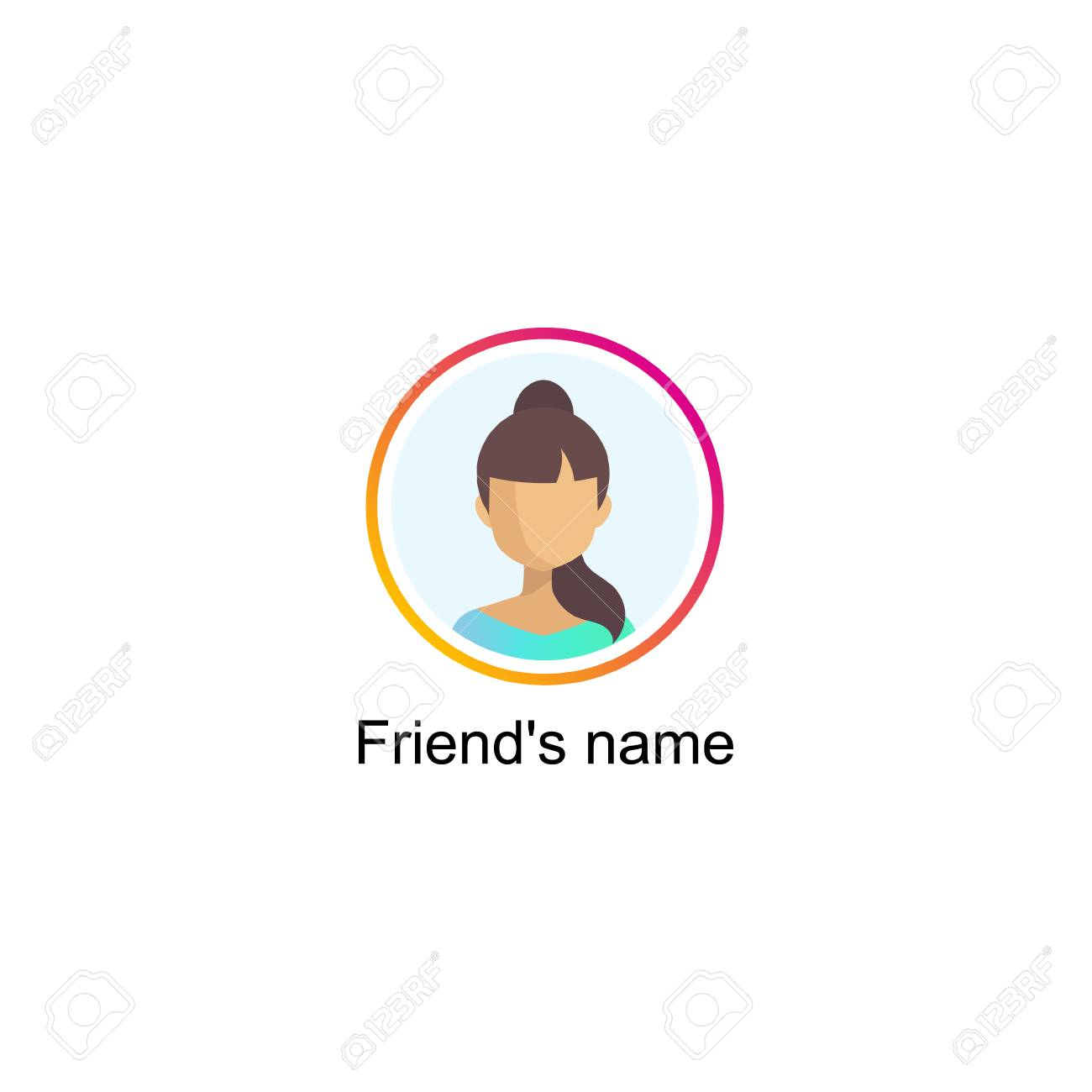 Follower notification on Social media icon user. - 96571435