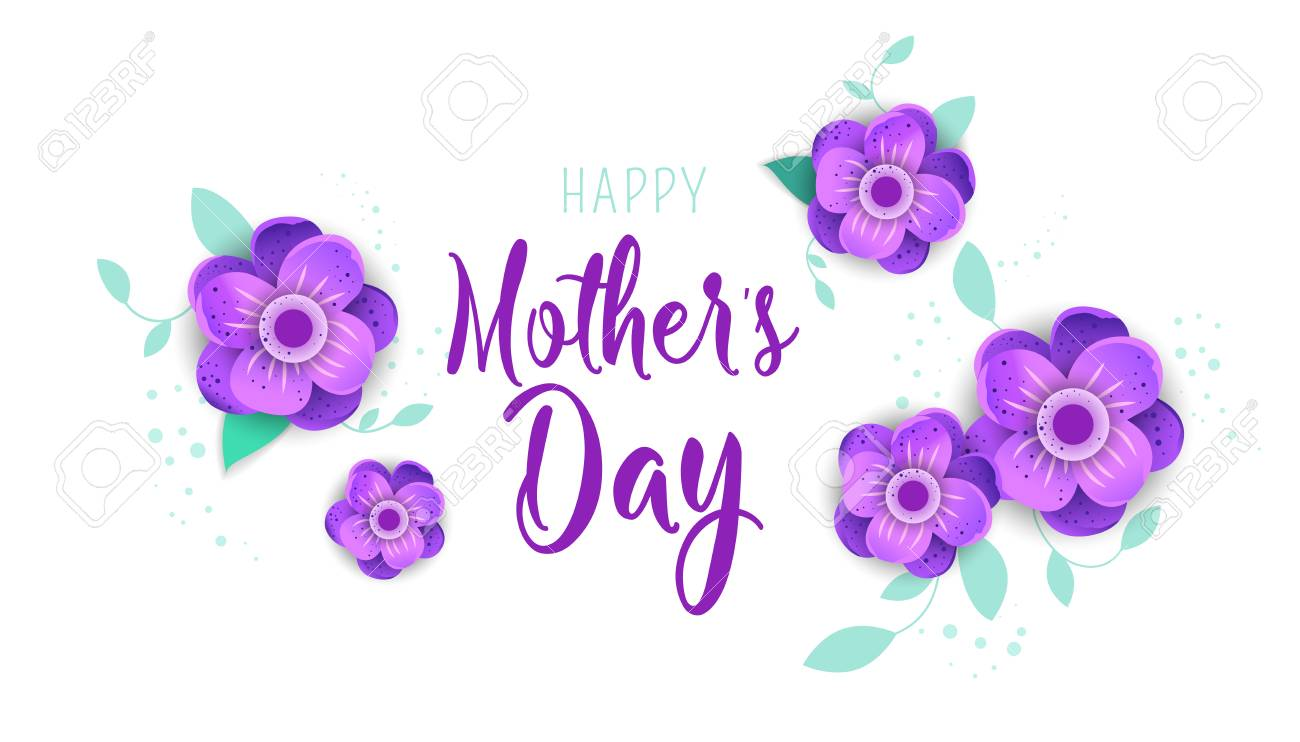 template design poster for happy mother s day with bright flowers