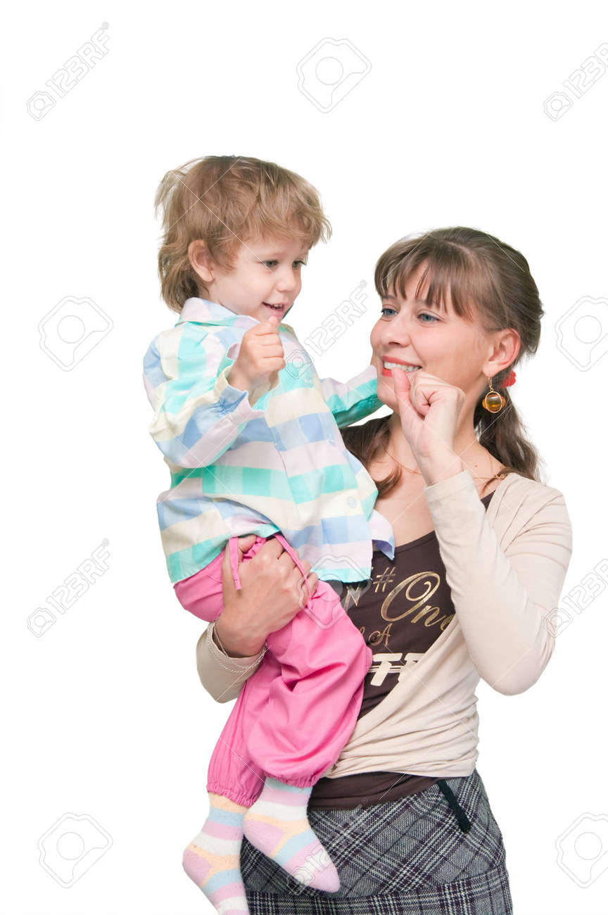 The image of the child on hands at the woman Stock Photo - 6106696