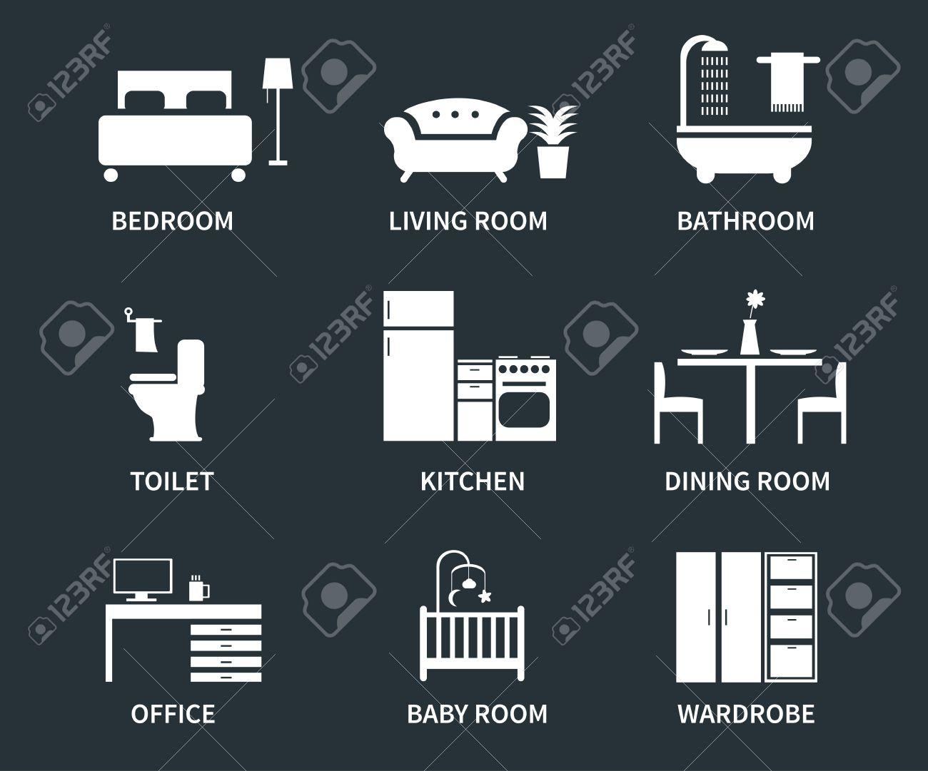 interior de la casa de diseño de iconos dormitorios, sala de estar