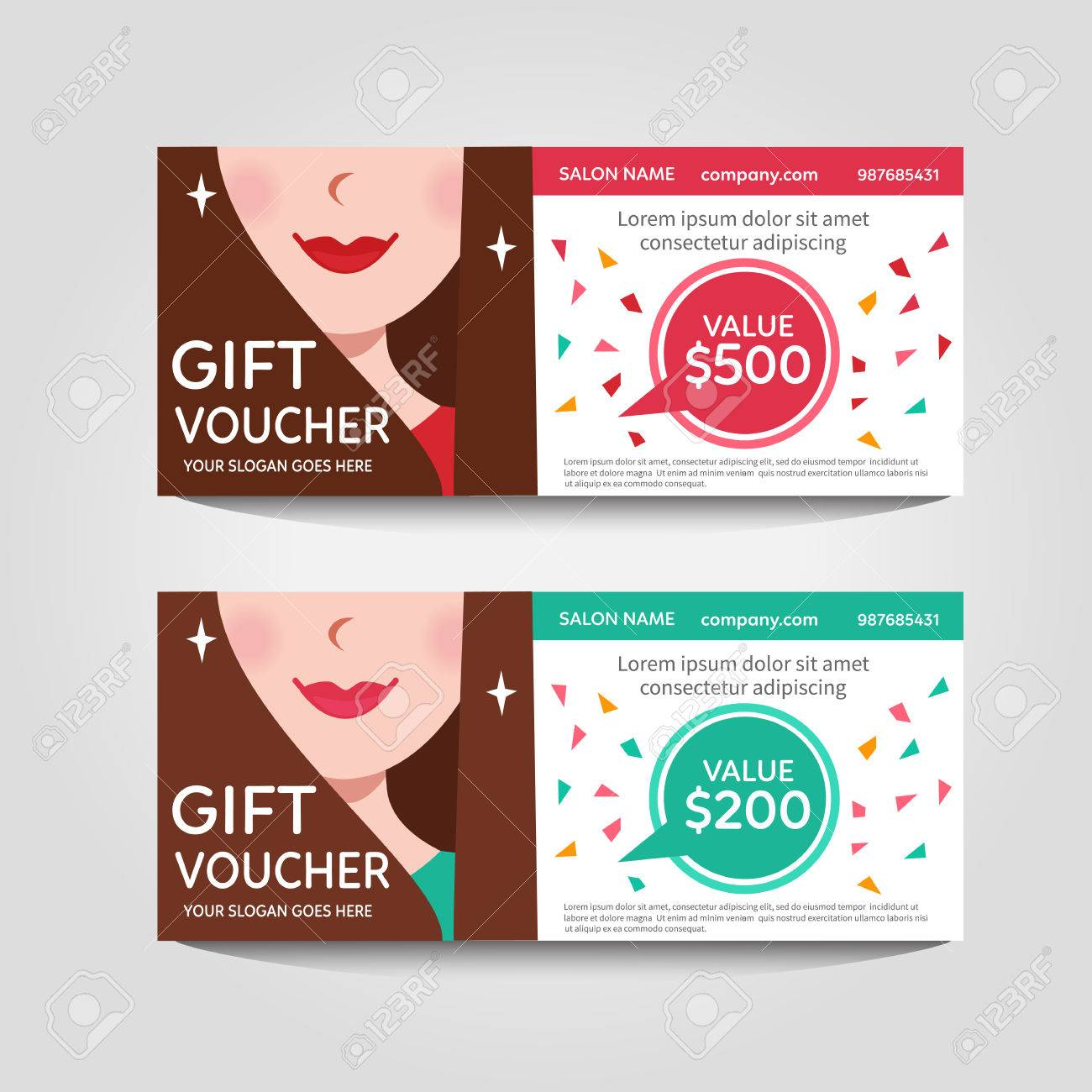 A Gift Voucher For A Beauty Salon Vector Flat Voucher Royalty Free Cliparts Vectors And Stock Illustration Image 58018096