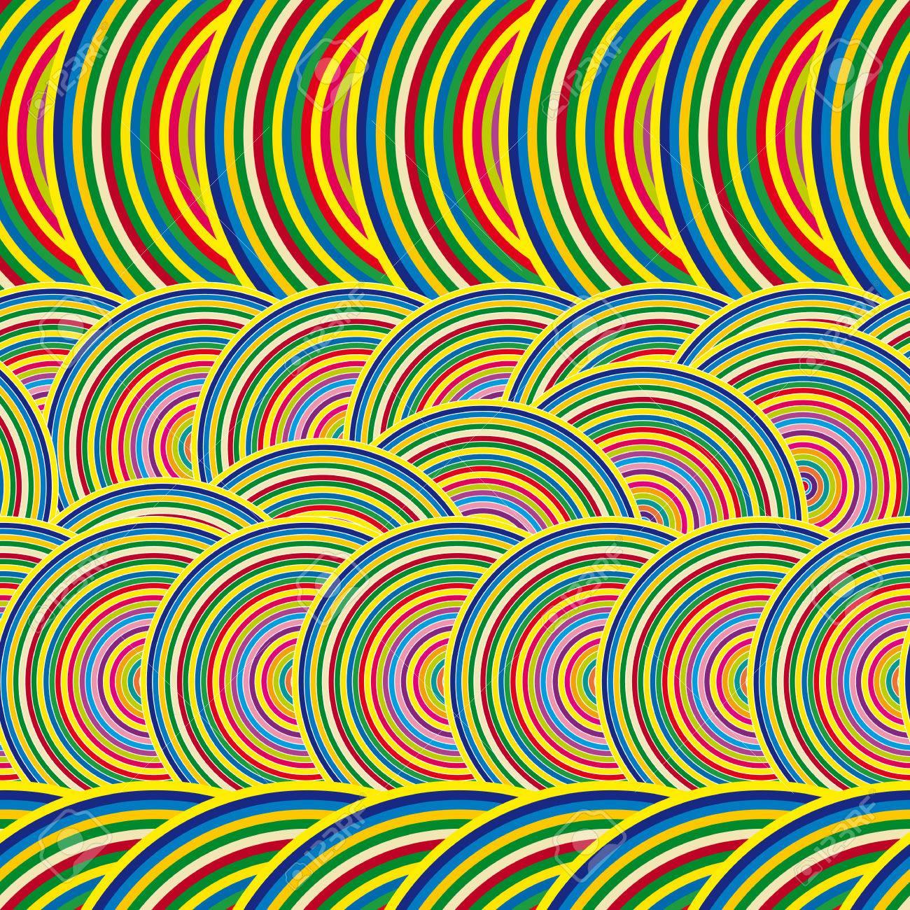 Multi-color Patrón De Fondo Unas Círculos Del Arco Iris ...