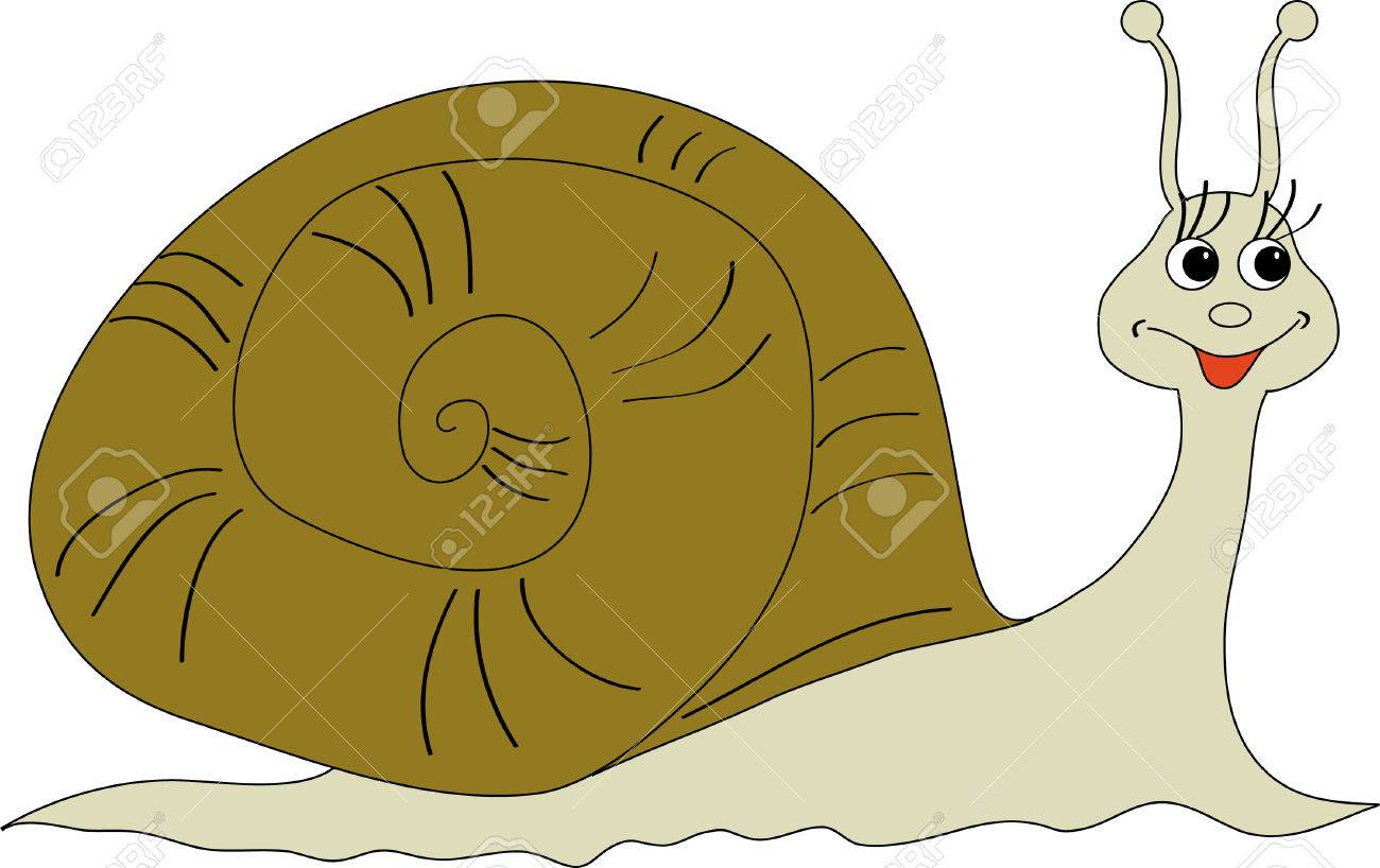 A merry snail creeps in matters Stock Vector - 8204419