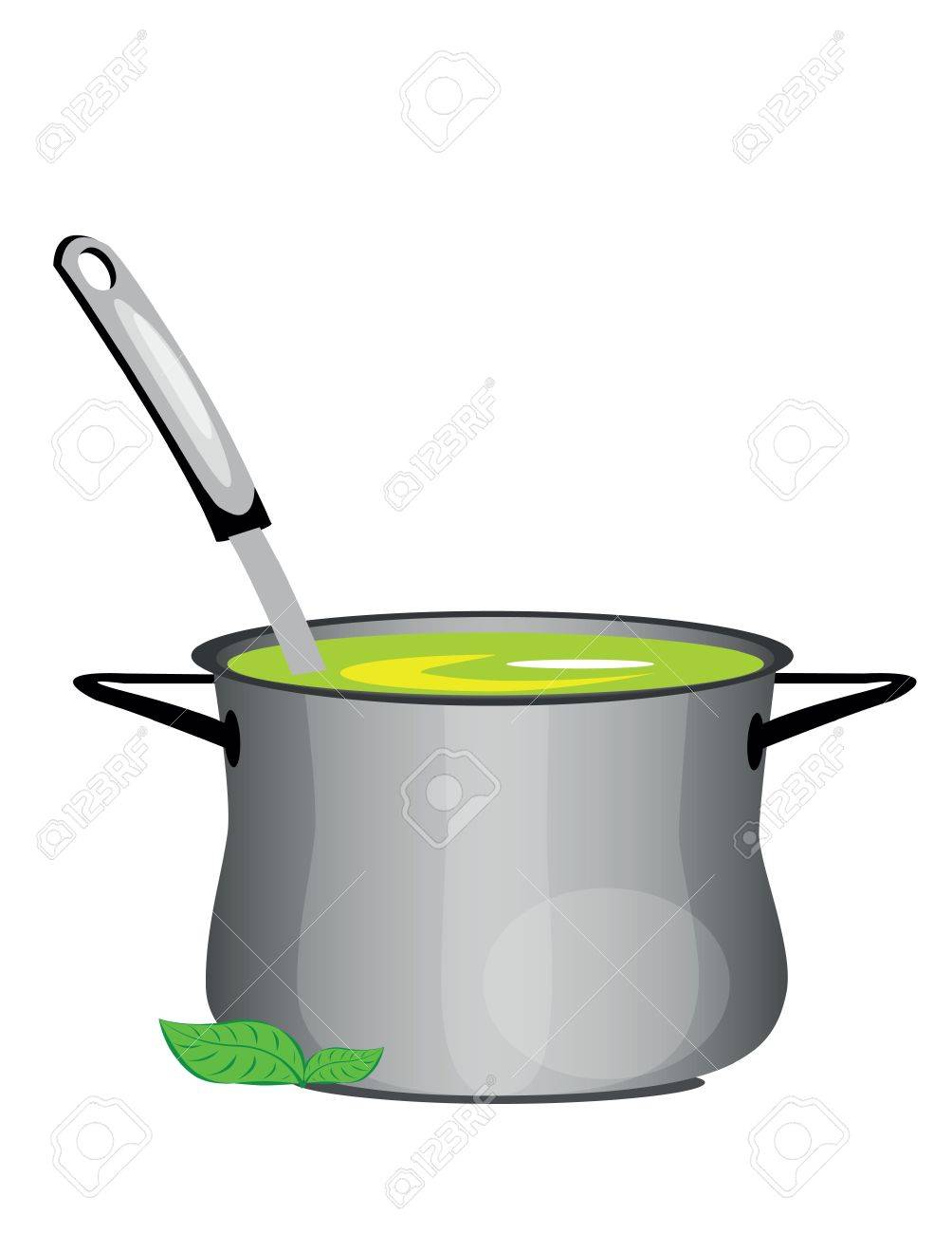illustration of isolated hot soup pan on white background Stock Vector - 10369766
