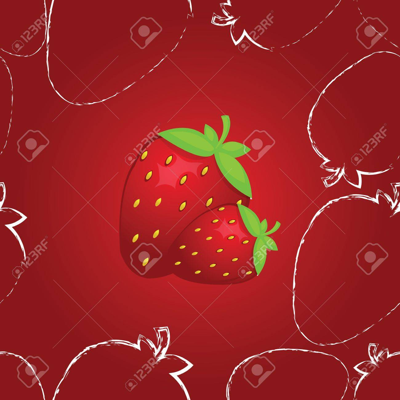 cute seamless strawberry pattern in vector Stock Vector - 13484333