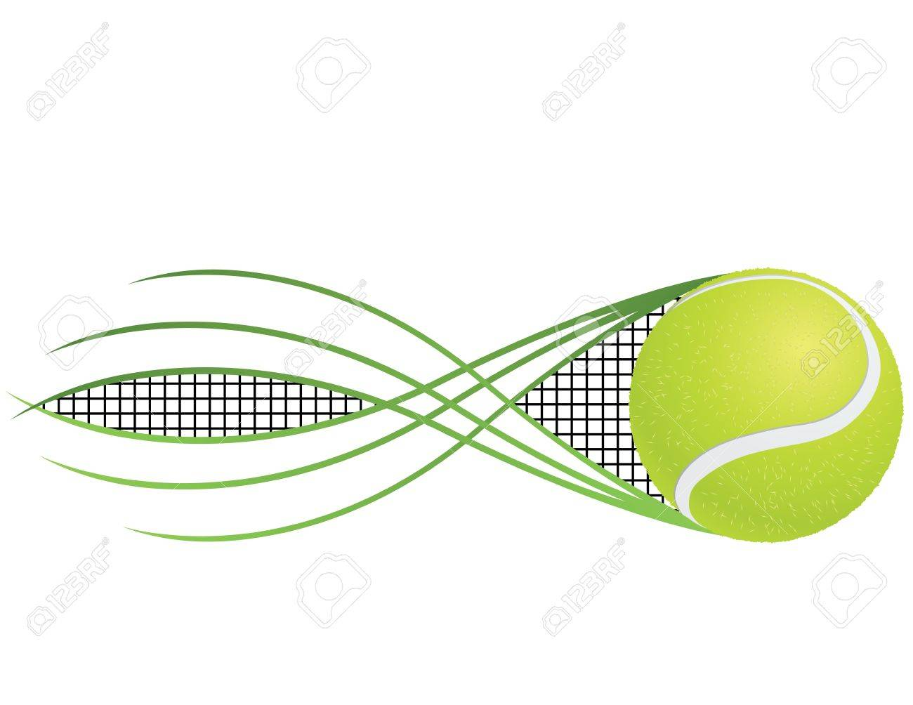 Tennis emblem and symbols isolated on white background. Stock Vector - 14471117
