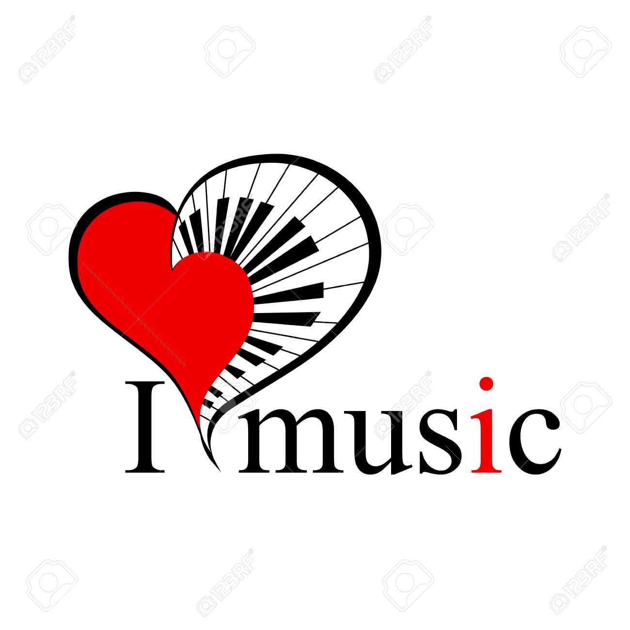 Big music heart with piano keys as a symbol love music and text big music heart with piano keys as a symbol love music and text stock vector buycottarizona Image collections