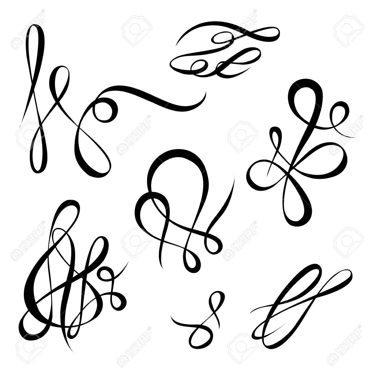 vector calligraphy page decoration calligraphic swirls and twirls rh 123rf com swirl vectors png swirl vector free download