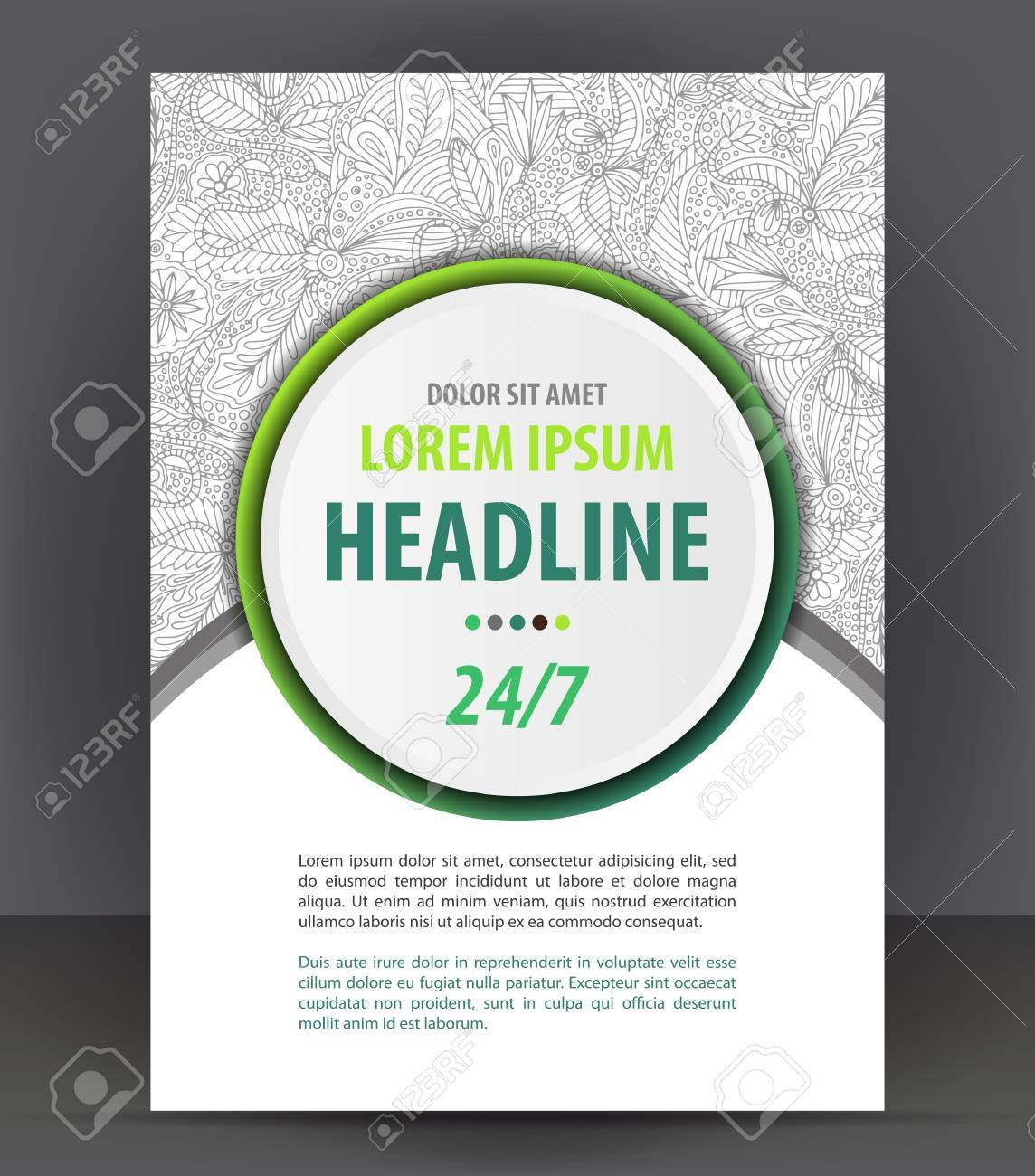 Magazine, flyer, brochure and cover layout design print template,