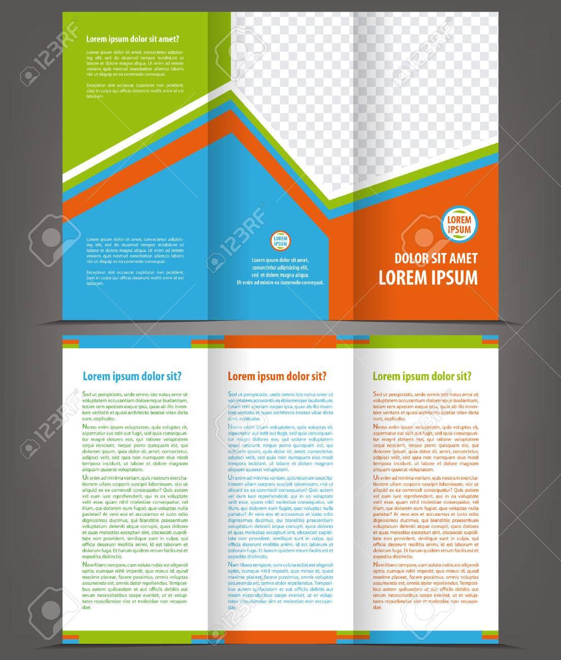 Vector Leer Trifold Broschüre Druckvorlage Design- Lizenzfrei ...