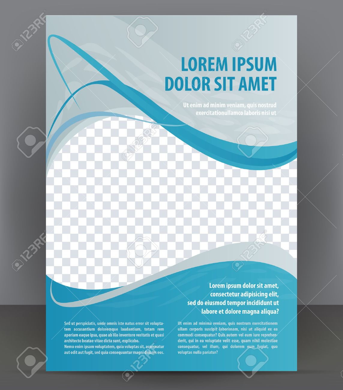 magazine flyer brochure and cover layout design template vector