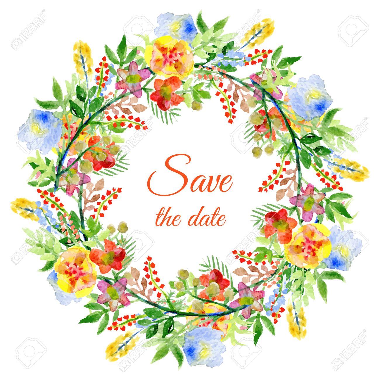 Dibujo A Lapiz Ofrenda Floral Vector Con Ramas Verdes Hojas Y Flores