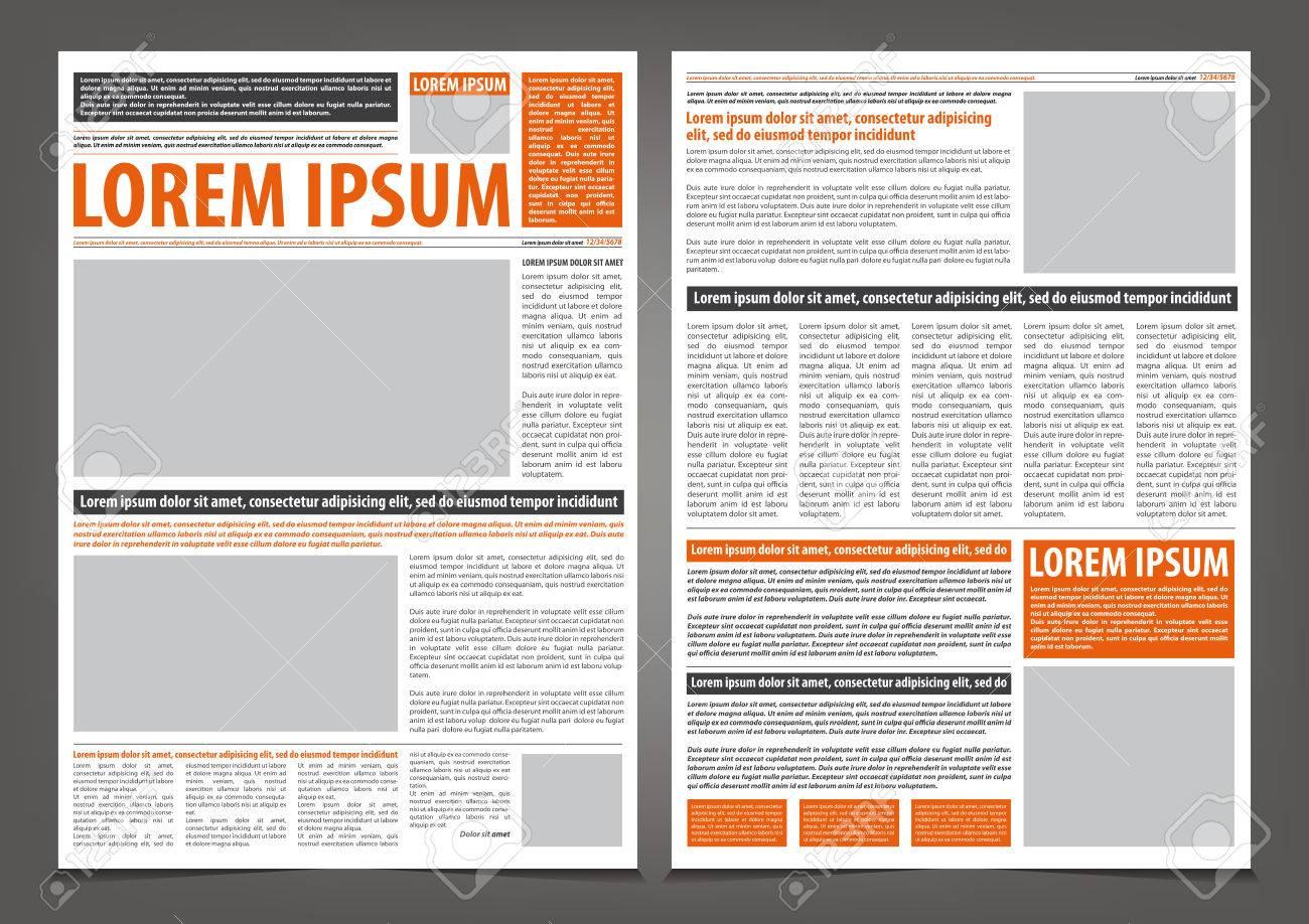 Vector Periódico De Vacío De Diseño Plantilla De Impresión Con ...