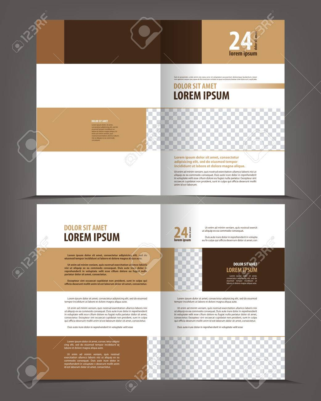 empty bifold brochure print template design layout vector