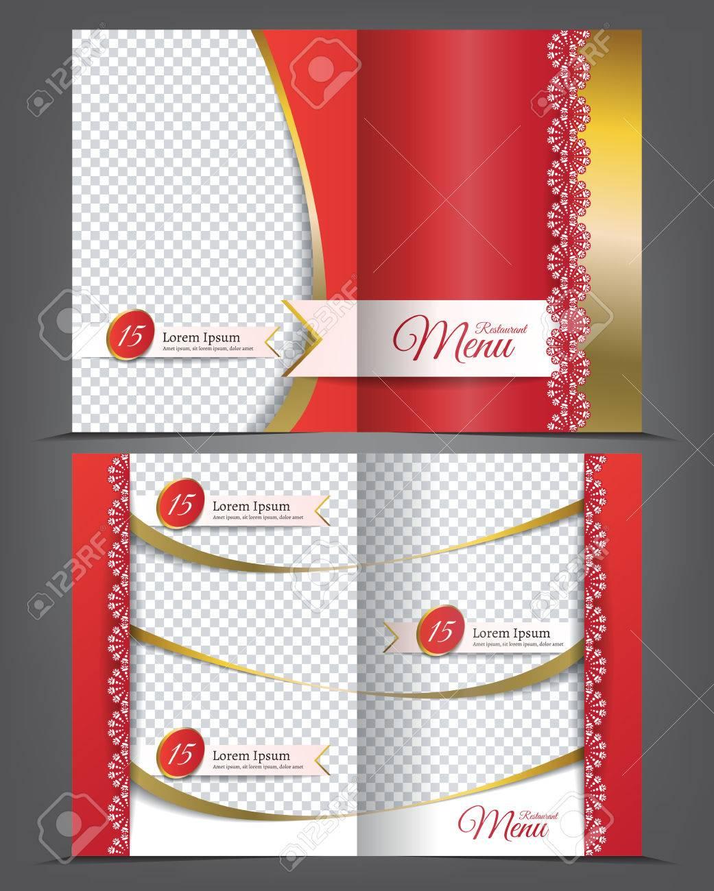 vector empty bifold brochure template menu design restaurant