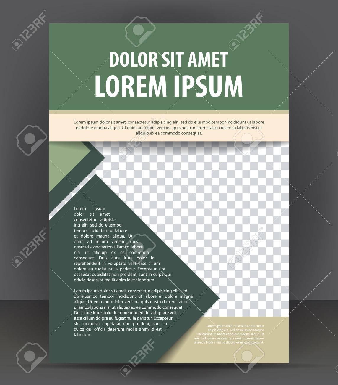 Revista, Folleto, Folleto Y Cubierta Plantilla De Diseño De ...