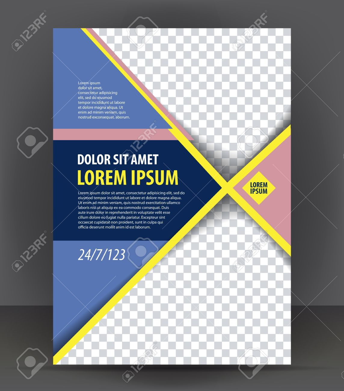 Superior Magazine, Flyer, Brochure Or Cover Layout Design Print Template, Pamphlet  Vector Illustration Stock Regard To Pamphlet Layout Template