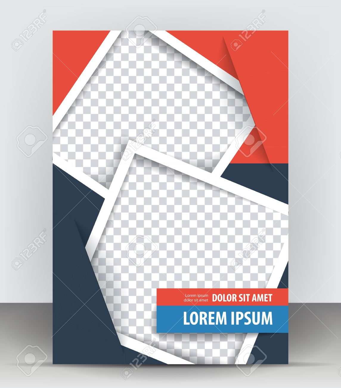 Magazine Flyer Brochure And Cover Layout Design Print Template – Pamphlet Layout Template