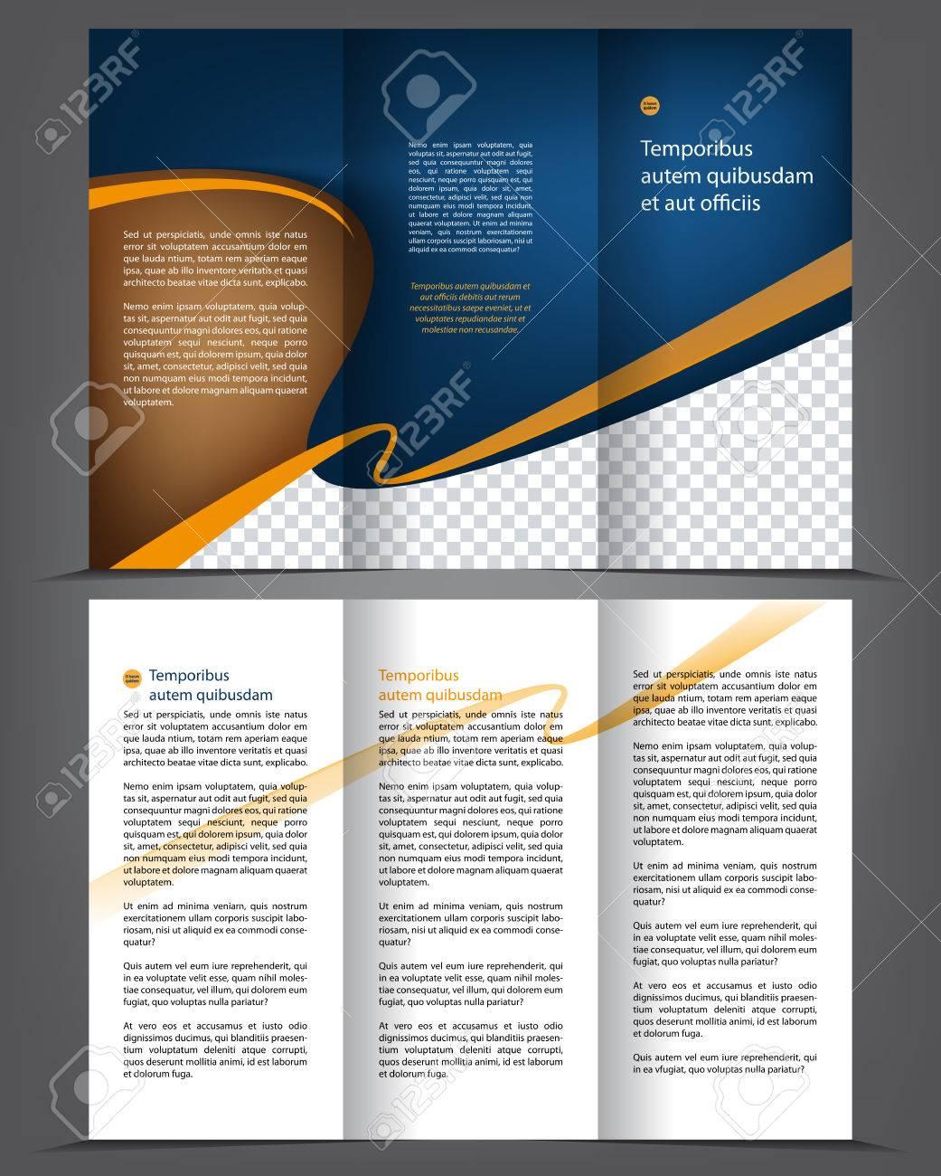 Vector Leer Dreifachfalz Broschüre Druckvorlage Design, Trifold ...