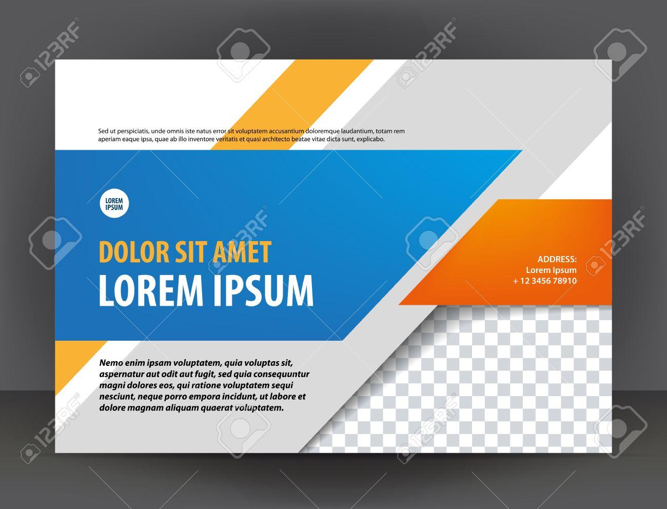Moderne Hellgrau, Orange Und Blau-Zertifikat Oder Diplom-Design ...