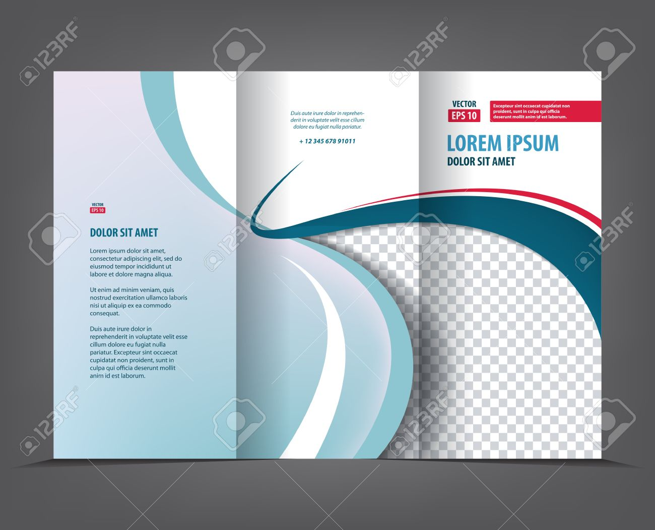 Vector Tri Fold Brochure Template Design Concept Business Trifold - Trifold brochure template