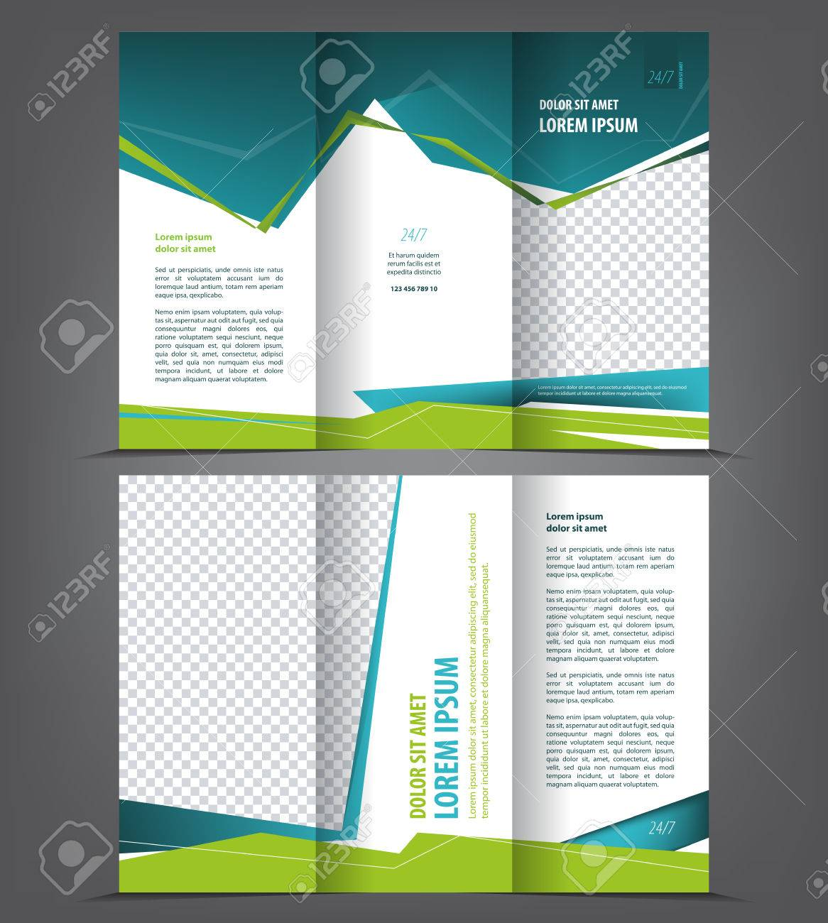 Vector Tri Fold Brochure Template Design Concept Business Trifold - Fold brochure template