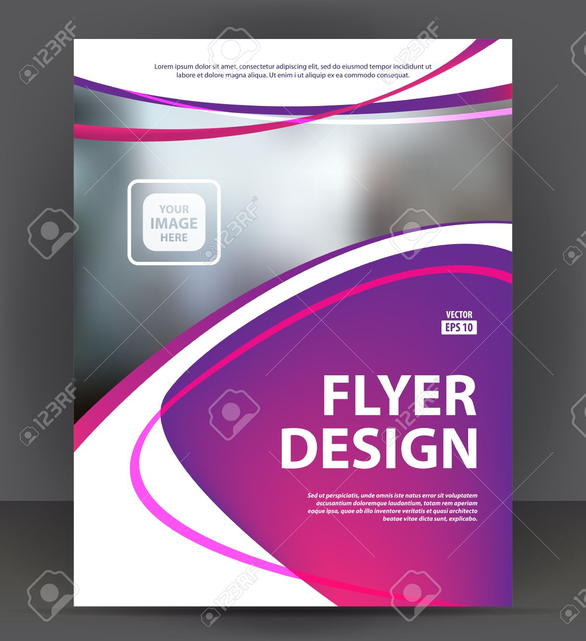Abstract Flyer, Brochure, Cover Layout Design Print Template, Pamphlet  Vector Letter Format Illustration  Pamphlet Layout Template