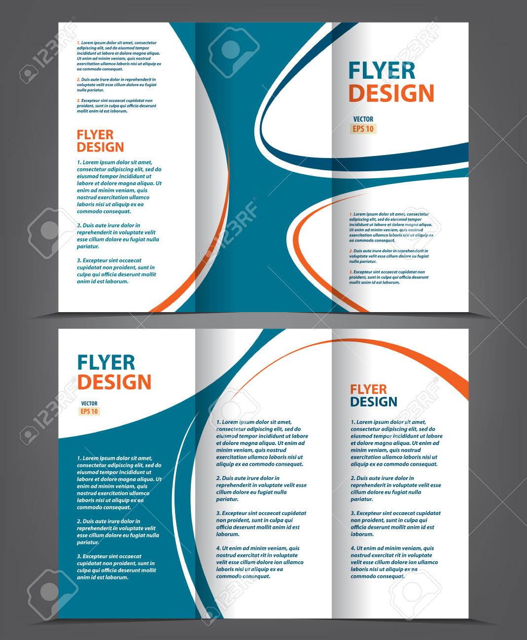 Vector tri fold brochure template design concept business leaflet vector vector tri fold brochure template design concept business leaflet 3 folded blue vector flyer layout wajeb Gallery