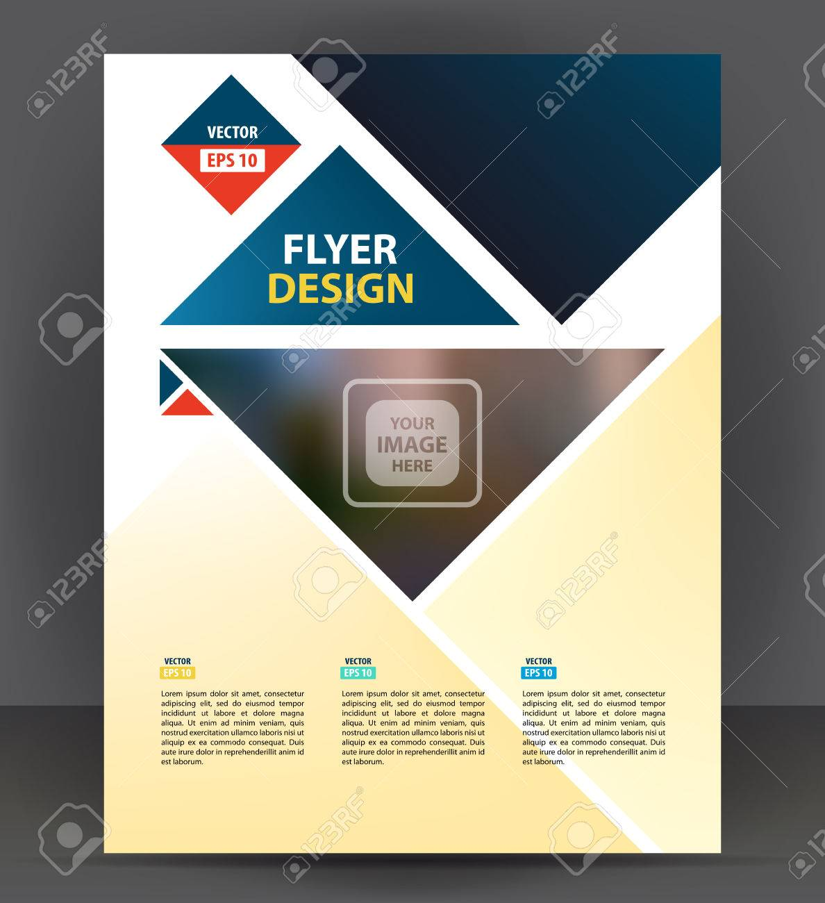Flyer Brochure, Cover Layout Design Print Template, Pamphlet Vector Letter  Format Illustration Stock Vector  Pamphlet Layout Template