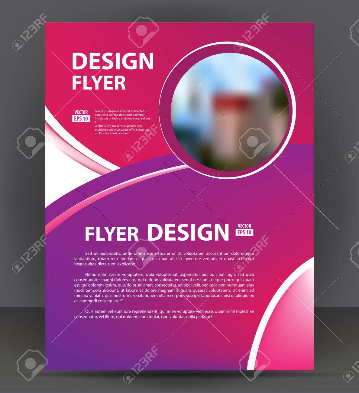 flyer brochure cover layout design print template pamphlet