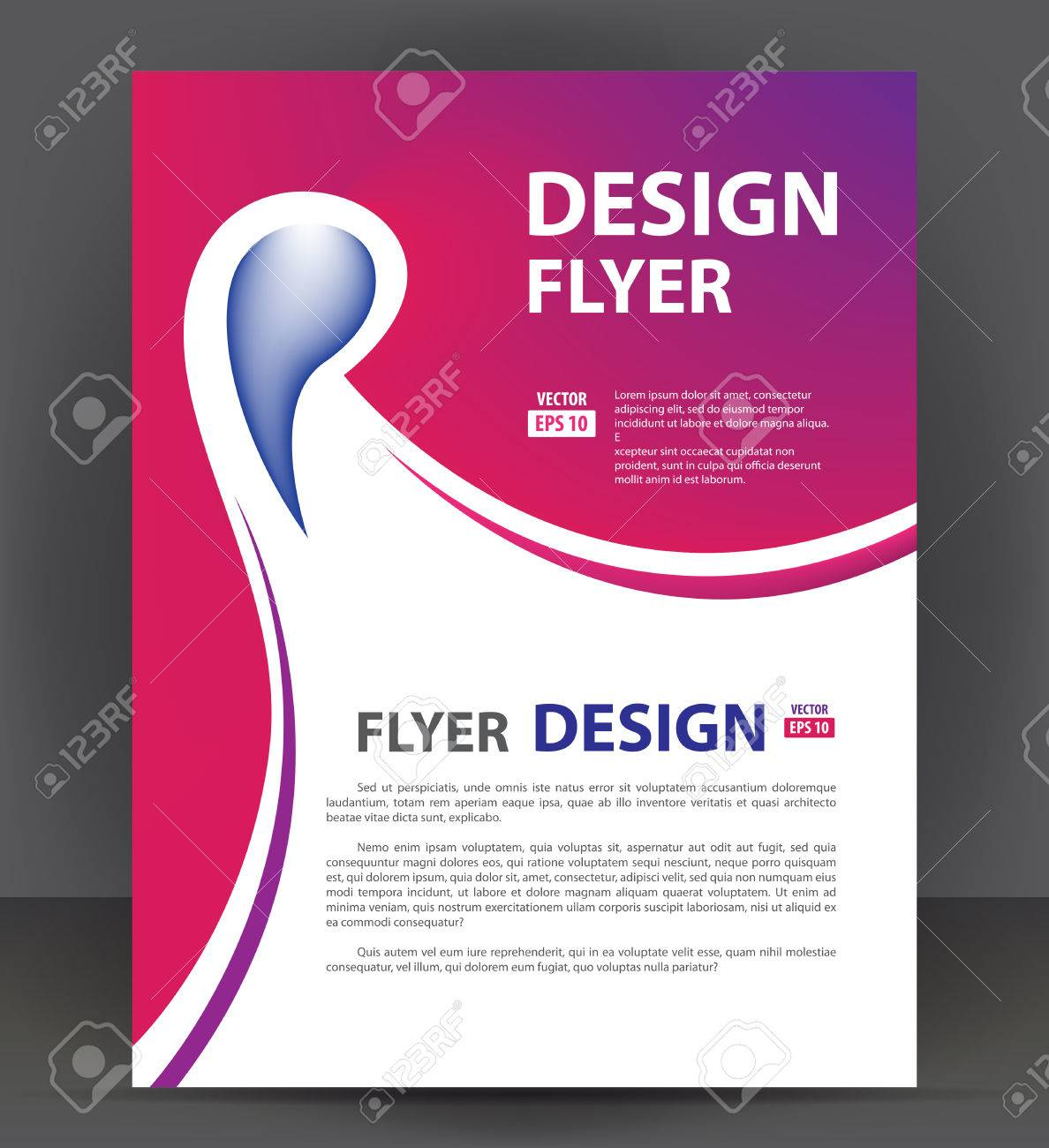 flyer brochure cover layout design print template pamphlet